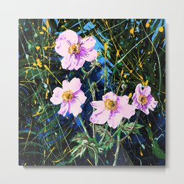 Flowers In My Father's Yard Remixed Metal Print