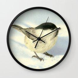 Chilly Chickadee Wall Clock