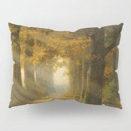 Early Morning Light, Autumn landscape painting by Max Ernst Pietschmann Pillow Sham