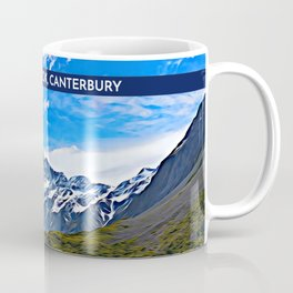 Aoraki / Mt Cook in Summer, Canterbury, New Zealand Coffee Mug