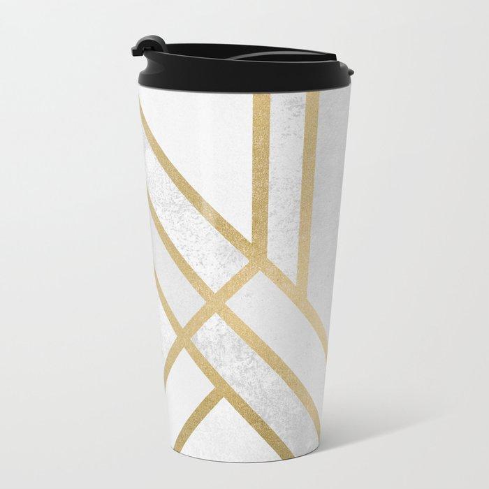 Art Deco Geometry 2 Metal Travel Mug