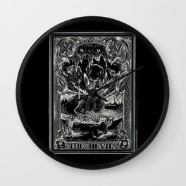 THE DEVIL of Tarot Cats Wall Clock