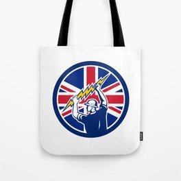 British Electrician Union Jack Flag icon Tote Bag