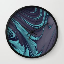 The Blues Abstract Wall Clock
