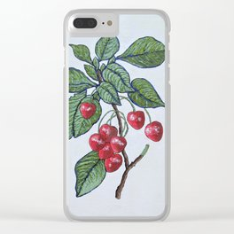 Burr's Seedling Clear iPhone Case