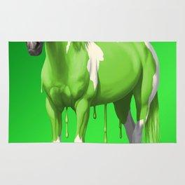 Neon Green Wet Paint Horse Rug