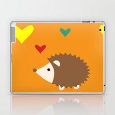 hedgehog orange Laptop & iPad Skin