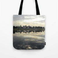 florida Tote Bags featuring Florida Sunrise by Stephanie Stonato