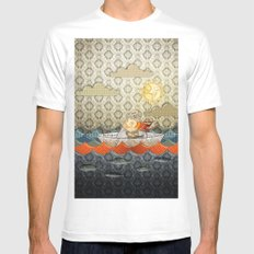 paper boat Mens Fitted Tee MEDIUM White