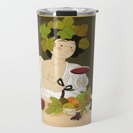 Bacco by Caravaggio Travel Mug