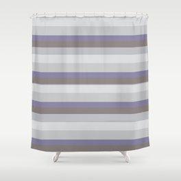 Winter stripes Shower Curtain