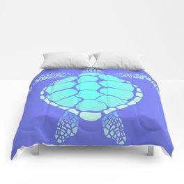 Ocean Blue Turtle Comforters