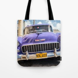 Purple Chevy Tote Bag