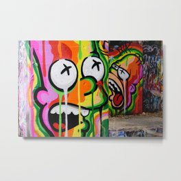 Cool Urban Cartoon Graffiti Art Metal Print