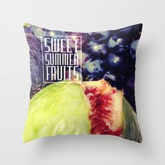 Figs and grapes (Sweet summer fruits) Throw Pillow