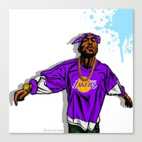 lakers Canvas Prints featuring Lakers Mood by Mike Farhat Art Mobb