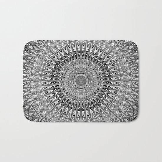 Grey mandala Bath Mat