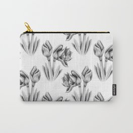 Black and white Amaryllis Carry-All Pouch