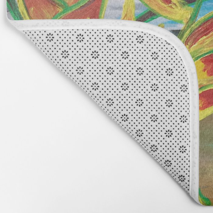 Heliconia Tropical Parrot Plant Take Me There Bath Mat