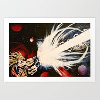 dbz Art Prints featuring DBZ Galaxy by DrewzDesignz