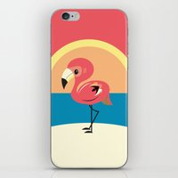 flamingo iPhone & iPod Skins featuring Flamingo by Steph Dillon