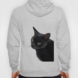Black cat in the dark Hoody