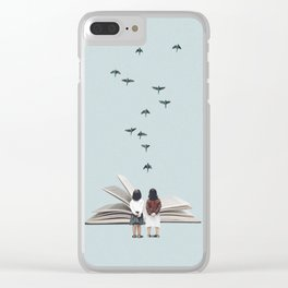 We communicate silently Clear iPhone Case