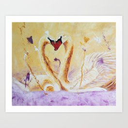 A Little Kiss | Un petit bec Art Print