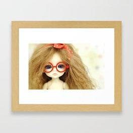 Red Glasses Framed Art Print