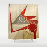 ruben Shower Curtains featuring Chameleon Stilizzato by Fernando Vieira