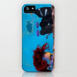 The Three Incomparable Wise Men Lecture the Unruly Giant on a Matter of Virtue iPhone Case