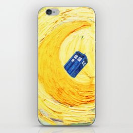 Tardis Flying With Circle iPhone Skin
