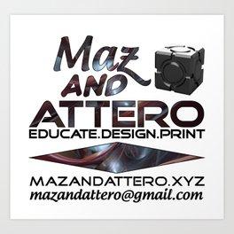 Educate.Design.Print Art Print
