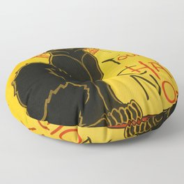 Le Chat Noir The Black Cat Art Nouveau Vintage Floor Pillow