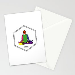 The Painted Lotus Yoga Pose Stationery Cards