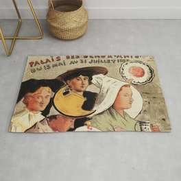 French belle epoque pottery expo advertising Rug
