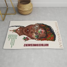 Happy Kwanzaa Gifts and Cards Rug