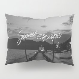 Sweet Escape (Black and White) Pillow Sham
