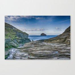 Trebarwith Strand Cornwall Canvas Print