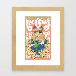 Allen Stone Gig Framed Art Print