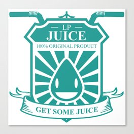Juice Badge Canvas Print