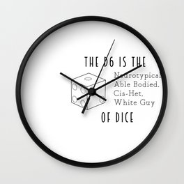 The D6 Wall Clock
