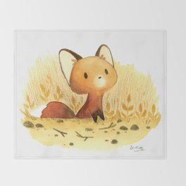Little fox Throw Blanket