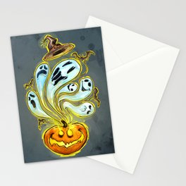 Pumpkins, ghosts and some bat Stationery Cards