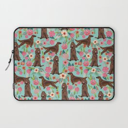 Irish Setter dog breed floral pattern gifts for dog lovers irish setters Laptop Sleeve