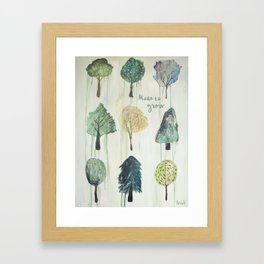 Made to Grow Trees Framed Art Print