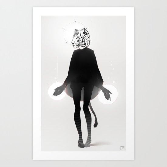 虎 Art Print