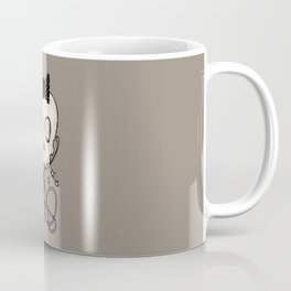 Girly Skull with Black Bow / Die for Music Coffee Mug