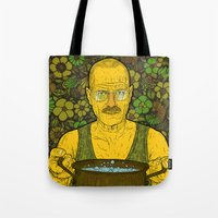 cook Tote Bags featuring Cook (green) by Lime