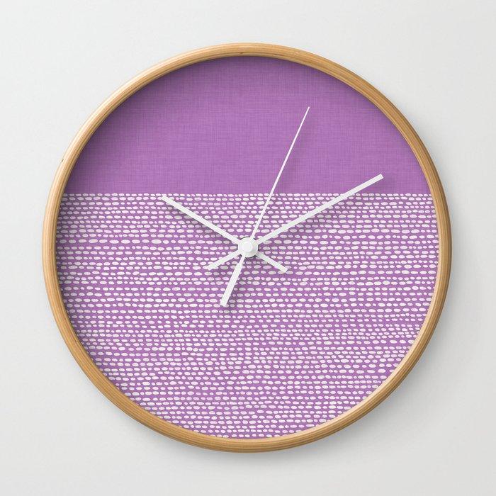 Riverside - Radiant Orchid Wall Clock